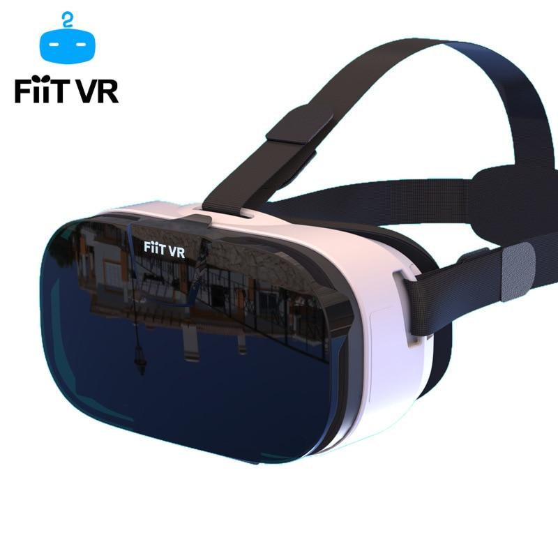 Fiit vr 2n óculos fone de ouvido 3d caixa óculos de realidade virtual móvel 3d vídeo capacete para 4.0-6.2 polegada telefone inteligente bluetooth controll