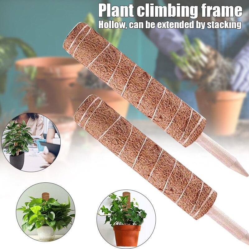 Poste de tótem de coco de 30/45CM, palo de musgo extensible, poste de tótem de fibra de coco para soporte de extensión de planta de escalada, planta de interior OCT998