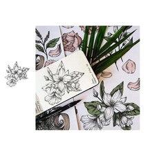 JC Gummi Klar Briefmarken für Scrapbooking Schöne Blumen Stempel Silikon Dichtungen Handwerk Schablone Album Karte Machen Dekoration Blatt