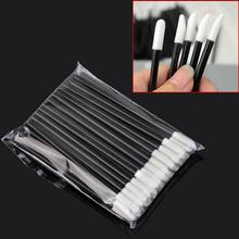 50Pcs/Set Fashion Women Disposable Hollow Lip Brush Wand Applicator Makeup Tool