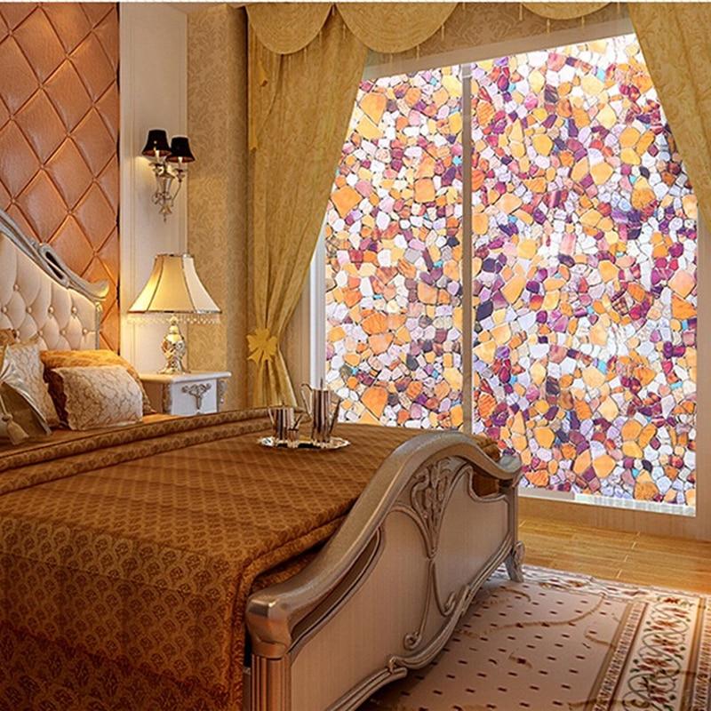 Película protectora europea de piedra de 40-90cm, película para baño, puerta corredera, ventana, película de vidrio mate, película opaca para Baño