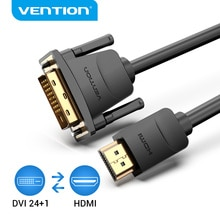 Vention HDMI to DVI Cable Bi-direction HDMI Male 24+1 DVI-D Male Adapter 1080P Converter for Xbox HDTV DVD LCD DVI to HDMI Cable