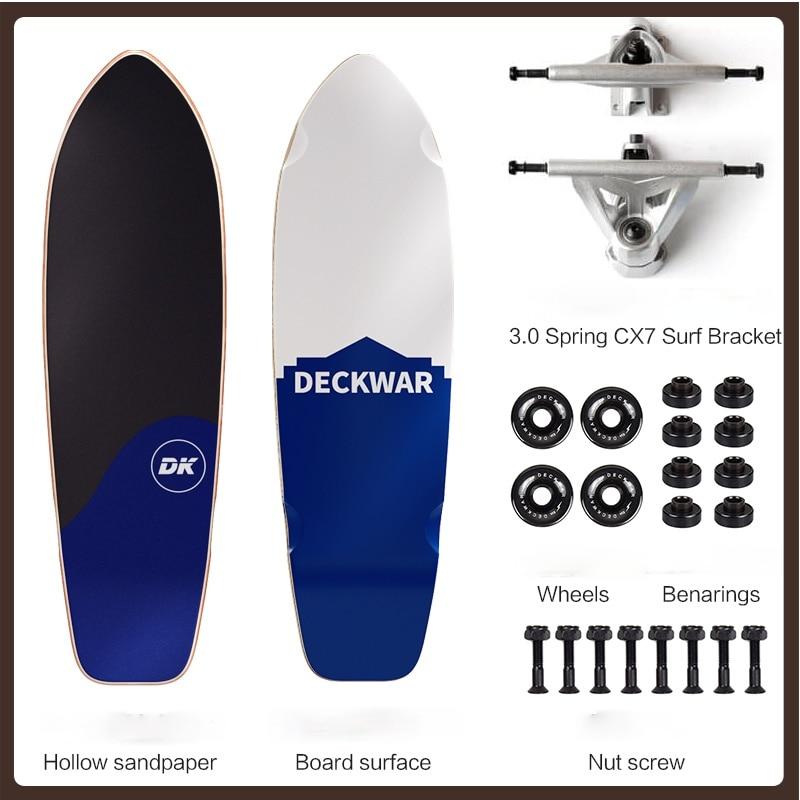 4 Wheel Long Board Skateboard Deck Wheels Set Professional Skateboard Single Rocker Teenagers Planche De Skate Entertainment