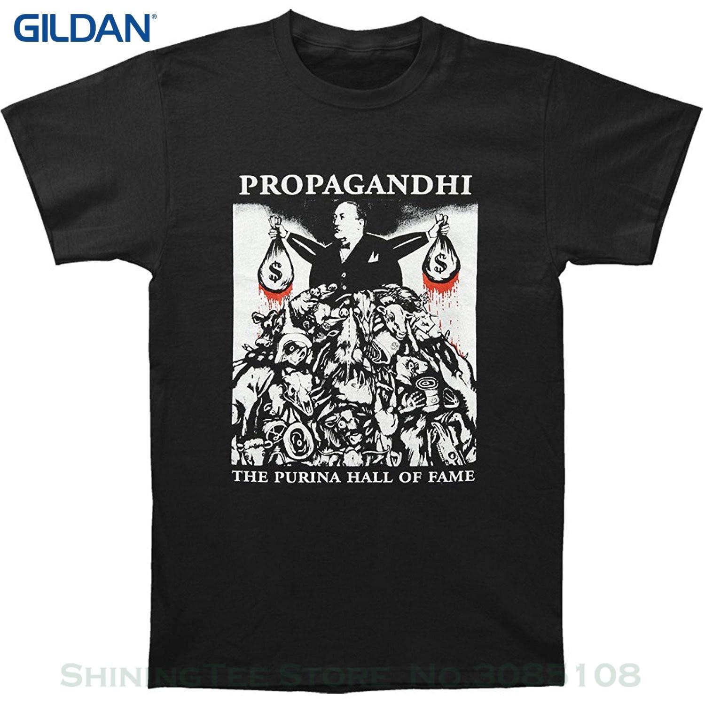 T-shirts da juventude para meninos propagandhi masculino purina hall da fama camiseta preto