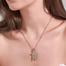 Religieux jésus Crucifixion croix collier pour femmes 2020 nouvelle mode or couleur croix pendentif avec chaîne bijoux cadeaux pour hommes