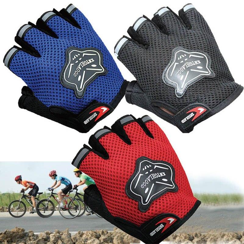 2020 nuevos guantes de bicicleta para niños medio dedo transpirable antideslizante para ciclismo deportivo VZ