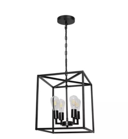 Modern simple living room study study dining room chandelier American retro iron industry four-head chandelier enlarge