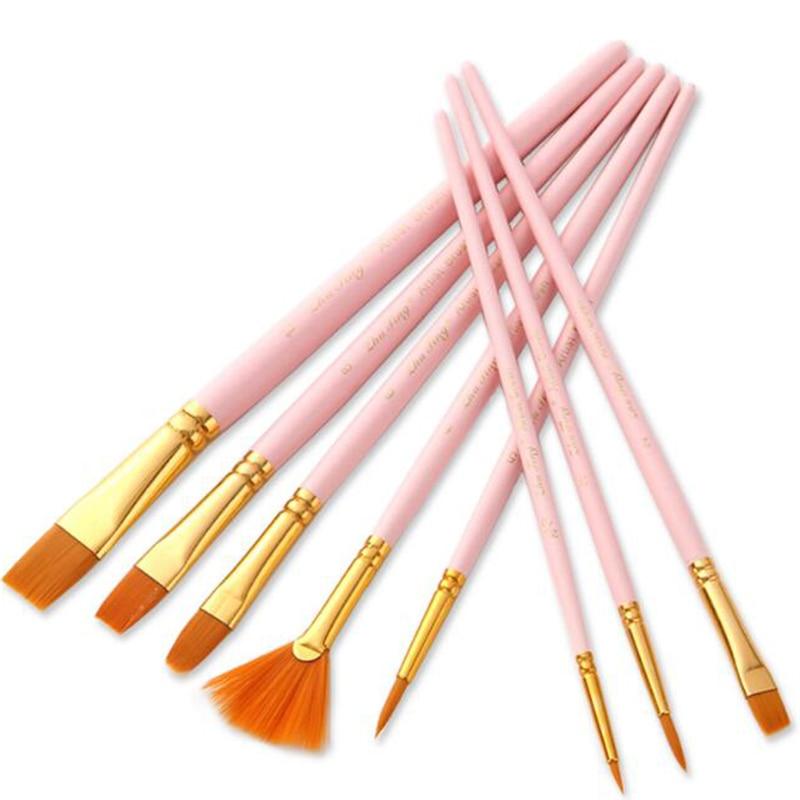 10Pcs/set Watercolor Pen Gouache Paint Brushes Nylon Hair Painting Brush Set Professional Art Supplies