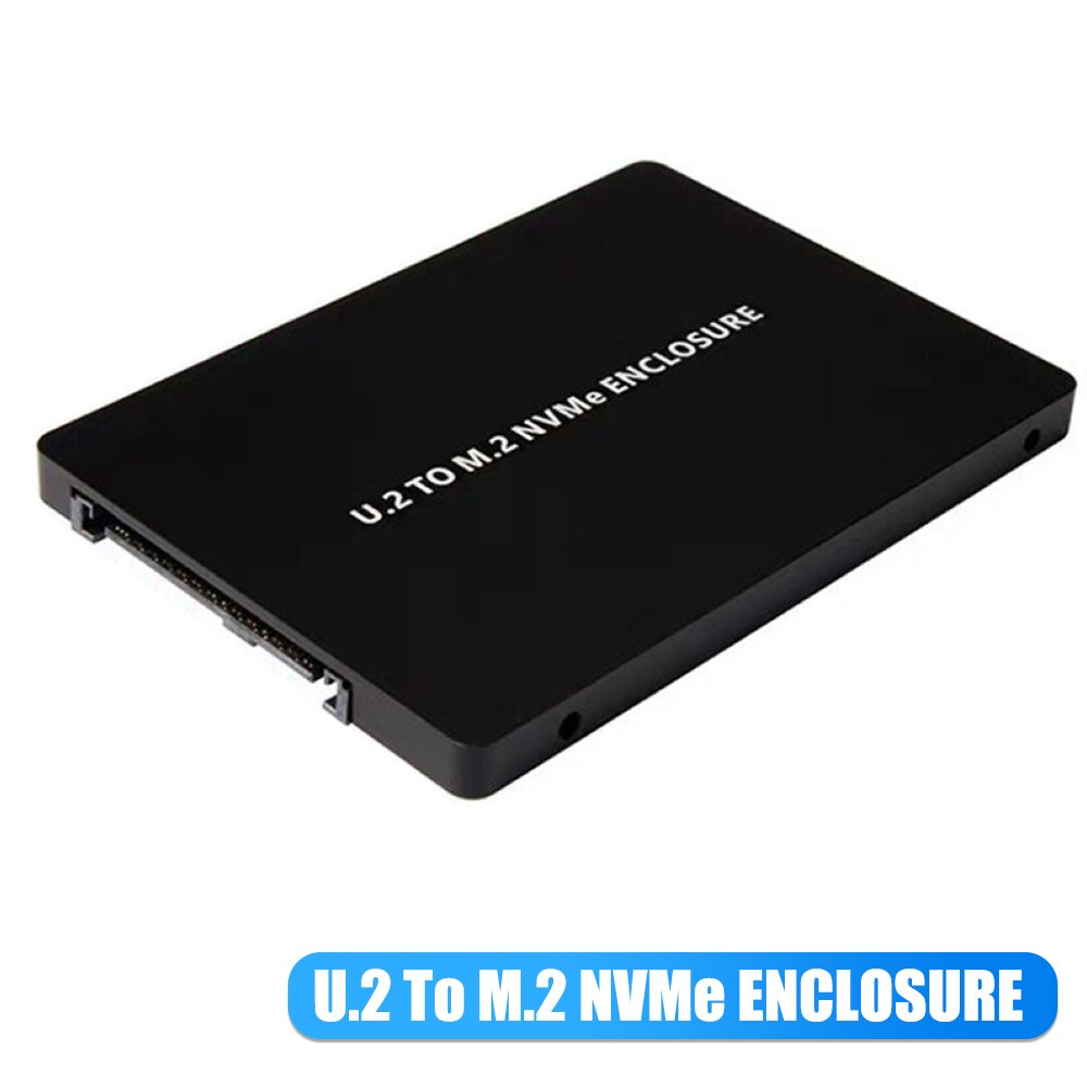 SFF-8639 الولايات المتحدة 2 إلى NVMe M.2 M-مفتاح PCIe SSD الضميمة محول محول PCIe M2 28TE