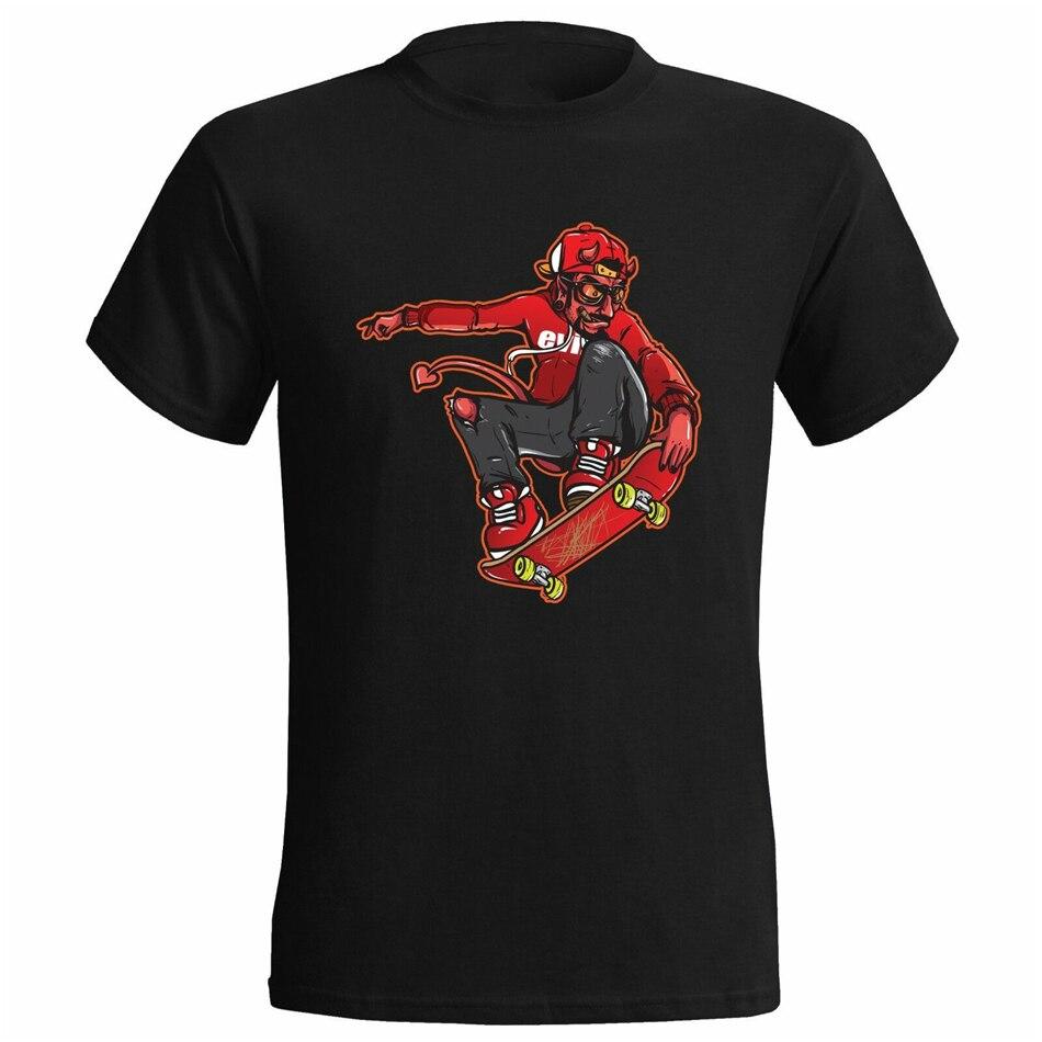 Şeytan dostum patenci erkek T Shirt kaykay kaykay kurulu paten mevcut moda artı boyutu Tee gömlek
