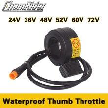 Chamrider Thumb Throttle 130X Julet Waterproof Connector Plug  24V 36V 48V 60V 72V E-bike Throttle Wuxing Brand High Quality