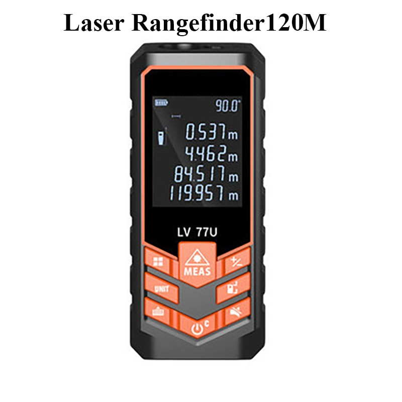 CUPBTNA 120m Mini Laser Distance Meter High Precision Hot Sale Voice Broadcast Type Digital-Display Measure Rangefinder