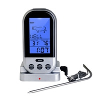 Meat Thermometer Digital LCD BBQ Thermometer with Backlight Food Meat Temperature Tester Probe for Kitchen with Alert