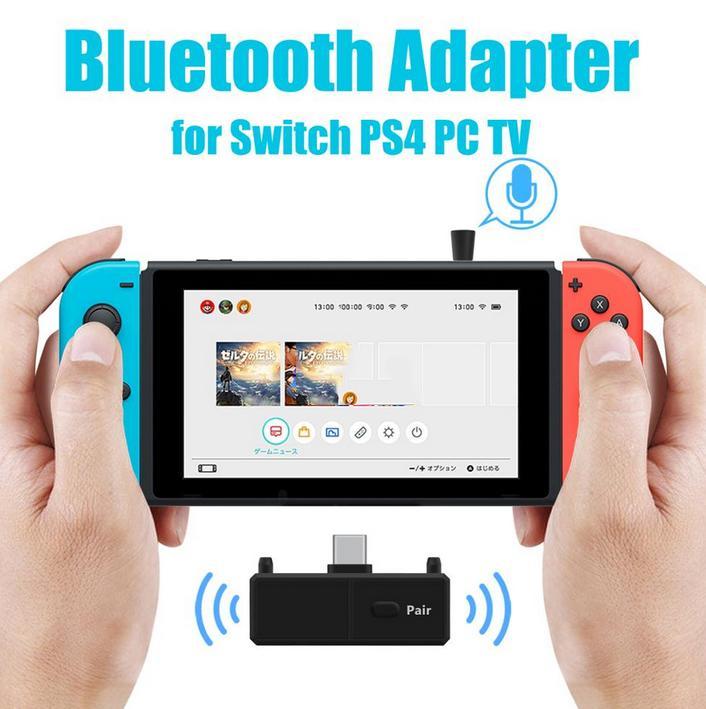 Transmissor de áudio sem fio bluetooth 5.0, adaptador sem fio com baixa latência tipo c para nintendo switch ps4 tv pc, acessórios para jogos