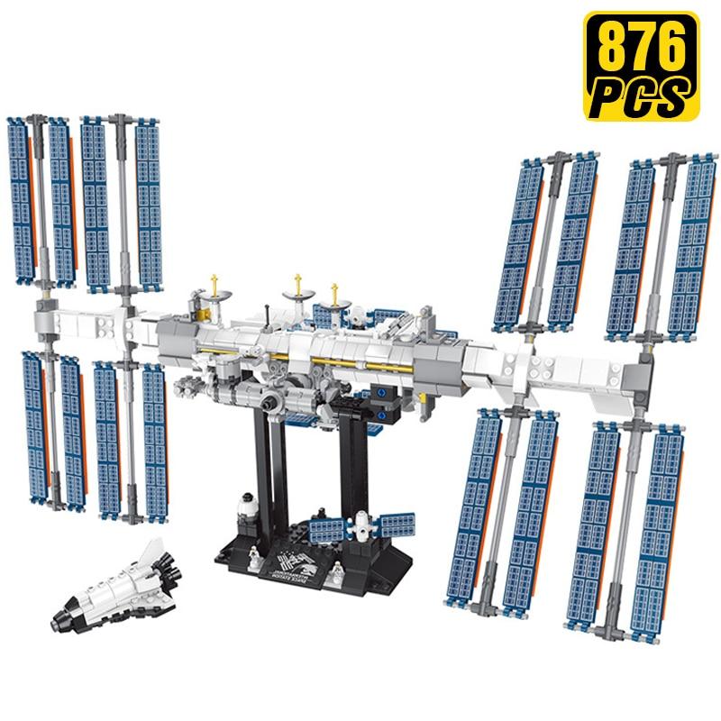 Creator Expert Technic Ideas bloques de construcción Estación Espacial Internacional nave espacial cumpleaños regalo novio Juguetes