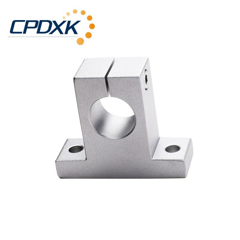 4 قطعة/الوحدة SK20 20 مللي متر الخطية الكرة تحمل السكك الحديدية رمح الجانب كتل دعم ل CNC 3D طابعة
