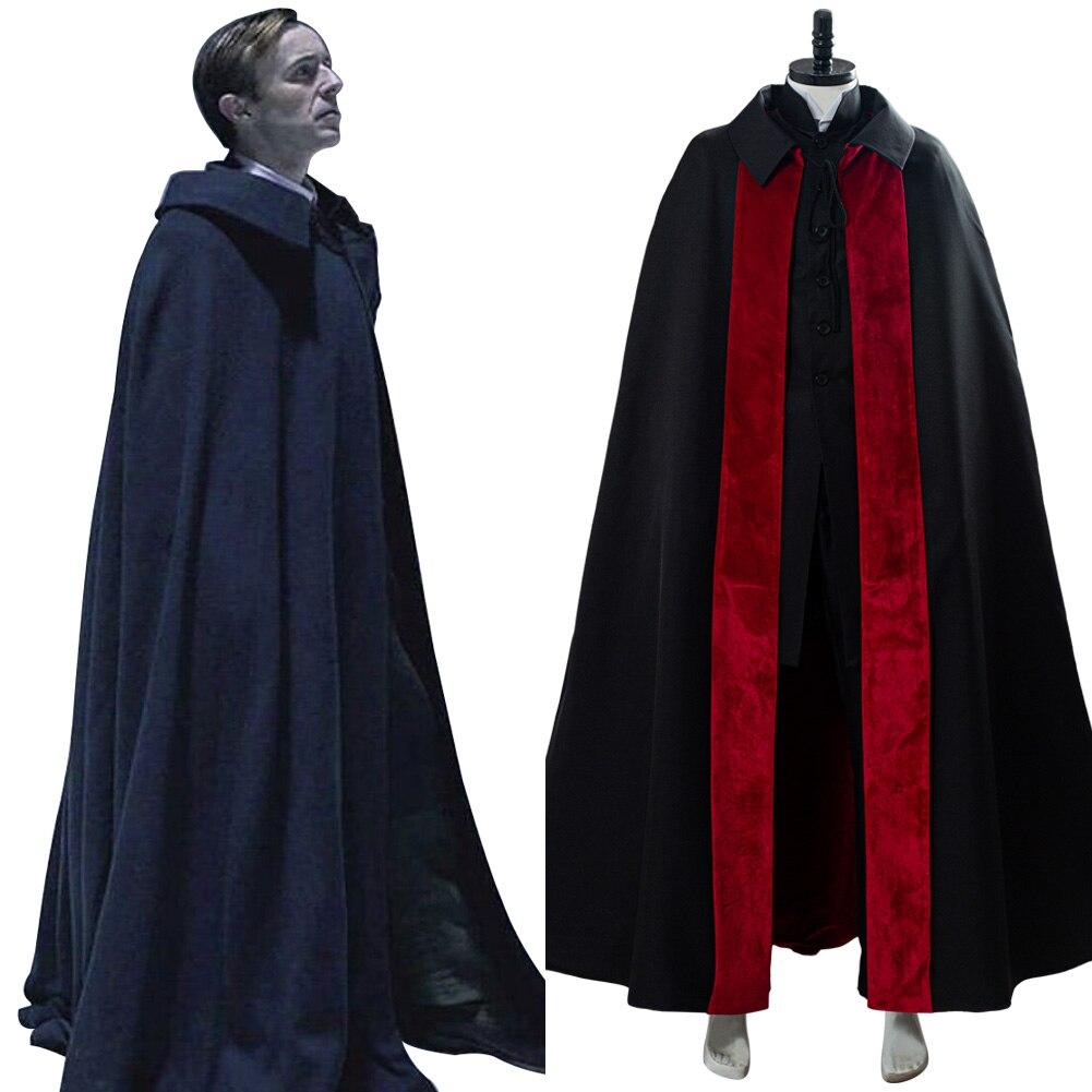 2020 مصاص دماء دراكولا تأثيري حلي يتوهم كيب الزي الكبار مصاص دماء عباءة هالوين أزياء تنكرية