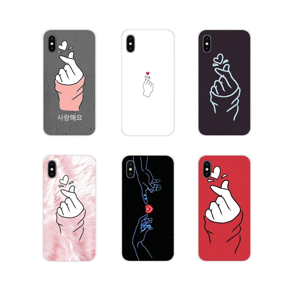 Mobile Phone Shell Case kpop Heart Drawing Love on the finger For Xiaomi Mi4 Mi5 Mi5S Mi6 Mi A1 A2 A3 5X 6X 8 CC 9 T Lite SE Pro