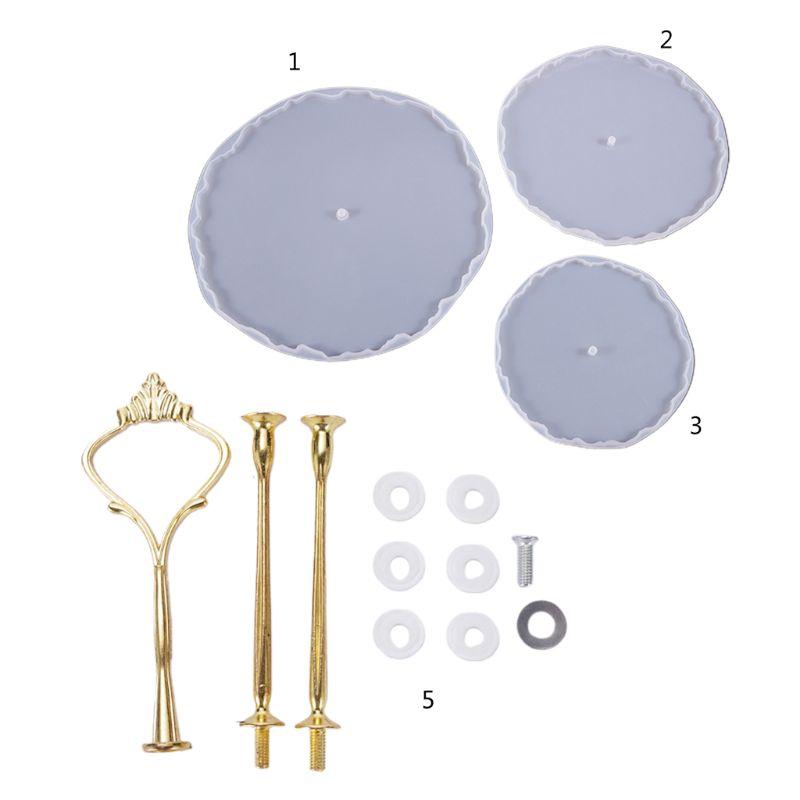 1 Pc/1 Set Kristall Epoxy Harz Form Drei-schicht Obst-fach Casting Silikon Form DIY Werkzeug