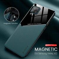 Чехол для samsung a 12, кожаная текстура, pixleglass, автомобильный магнитный держатель, чехлы для телефона galaxy a12, Мягкий Силиконовый противоударный ч...