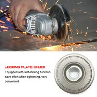 Locking Plate Chuck Quick Clamping Device for M14 1200W 125mm Polishing Disc Angle Grinder with 11000r/min Angular Speed