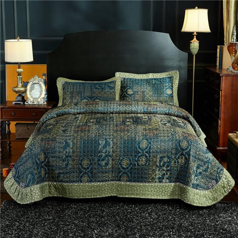 2019 منتجات جديدة القطن و الكتان اللحف غطاء السرير ملاءات سادات 245x250 سنتيمتر الفاخرة 3 قطعة.