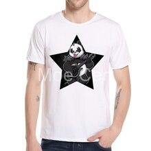 Camiseta con estampado de Panda Punk de moda de 2018, camiseta de verano para hombre, camisetas de estilo Rock And Roll de Heavy Metal, camiseta Casual Hipster L6-B-10