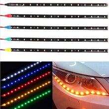 Bande de vitesse Flexible 12V 30cm 15SMD DRL   Bande de lumière, lumière, étanche, pour lautomobile, décorative