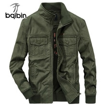 New Spring Autumn Military Jacket Men High Quality Casual Solid Outwear Multi-pocket Cargo Bomber Ja
