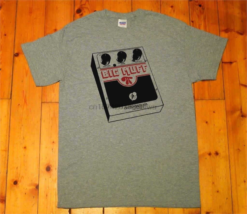 Guitarra pedal efecto big muff shoegaze-pantalla impresa camiseta hombres camiseta