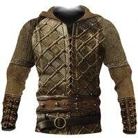 norse mythology viking armor 3d all over printed mens hoodies harajuku streetwear hoodie unisex autumn casual jacket tracksuits