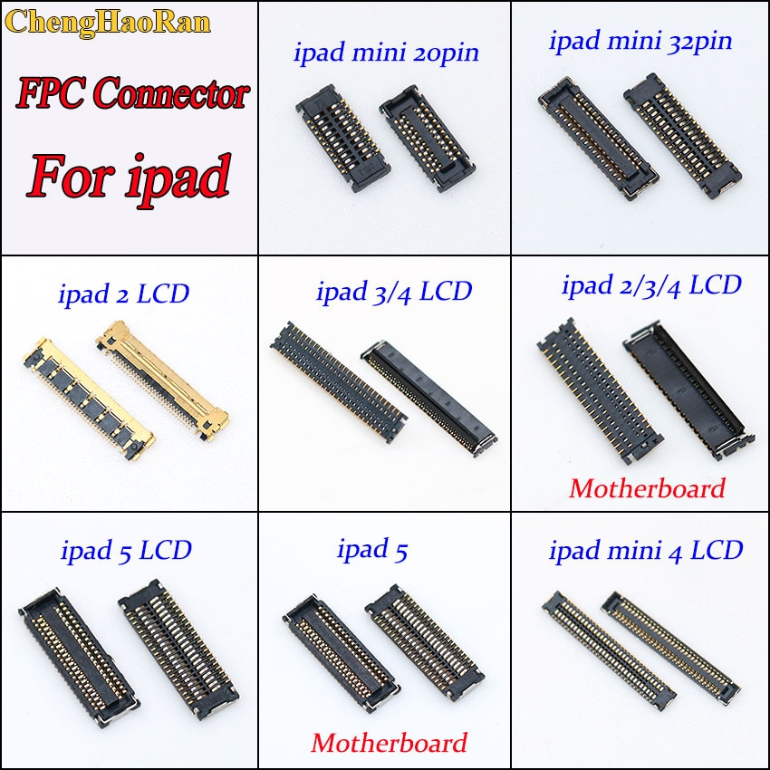 1 шт. ЖК-дисплей FPC разъем порта разъем для ipad 2/3/4/5 Mini4 мини 20pin 32pin на материнскую плату Замена