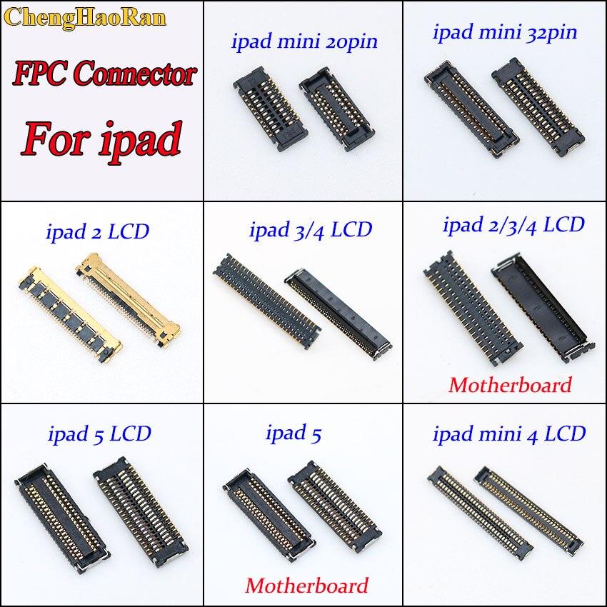 Connecteur de Port pour ipad 2/3/4/5   1 pièce, écran daffichage LCD, Mini 20pin 32pin de remplacement sur carte mère