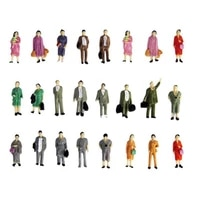 50 packs 187 people mini models people for train layout ornaments accs