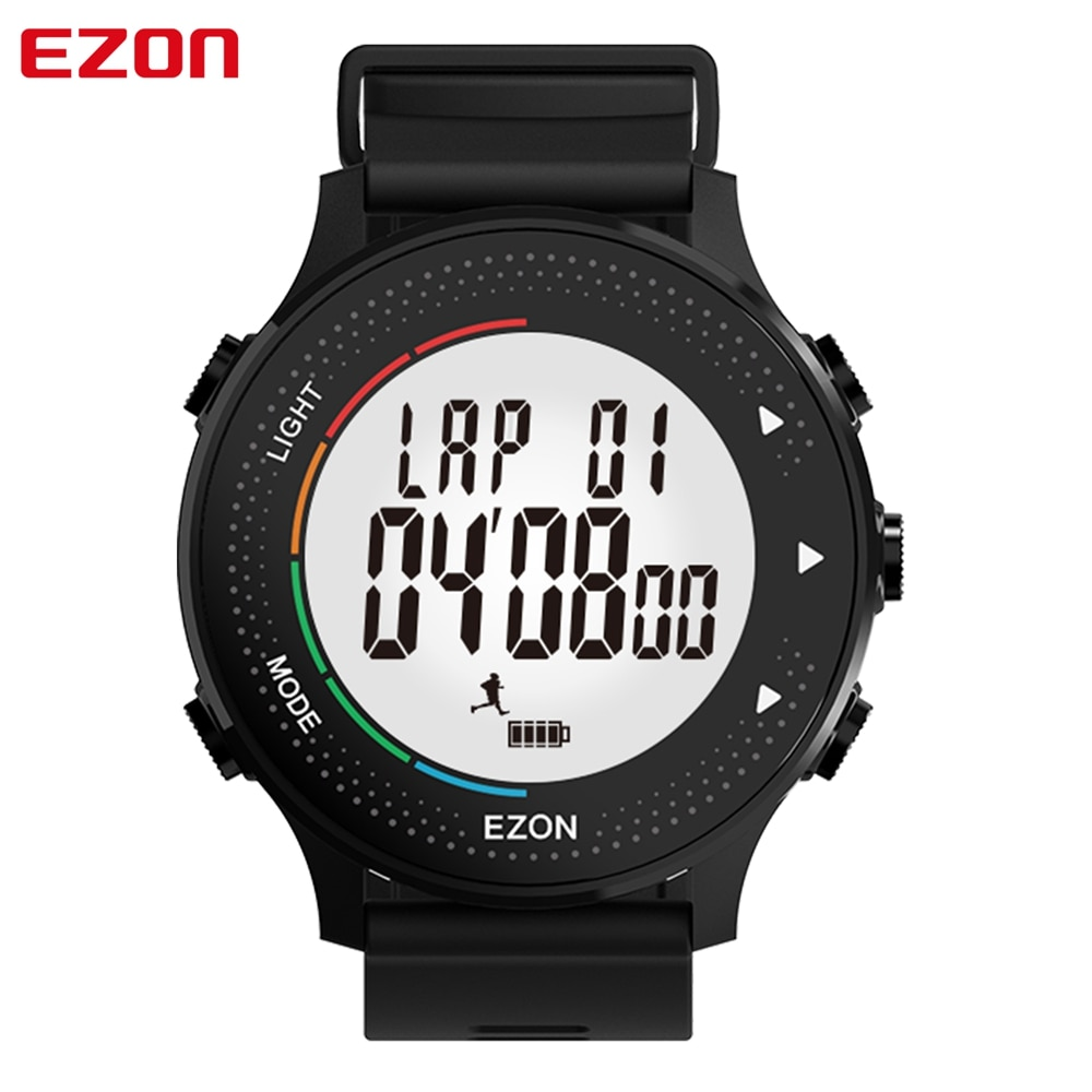 Monitor de Freqüência Digital com Passo e Contador de Calorias Ezon Cardíaca Esporte Relógio Cronômetro Alarme Temporizador Contagem Regressiva T045