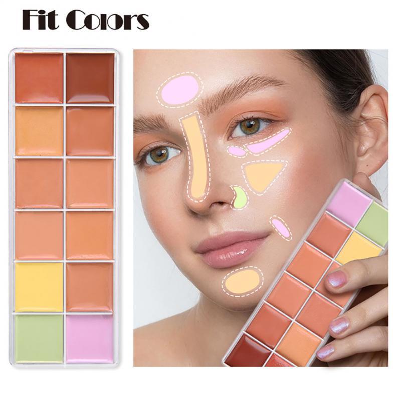 Face Contour Concealer Makeup Palette Waterproof Full Coverage Foundation Corrector Palette Base Pro