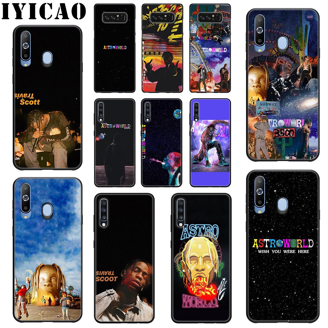 IYICAO Astroworld принтом Трэвиса Скотта, мягкий силиконовый чехол для samsung A70 A60 A50 A40 A30 A20 A10 M10 M20 M30 M40 Note 8 9 чехол для телефона