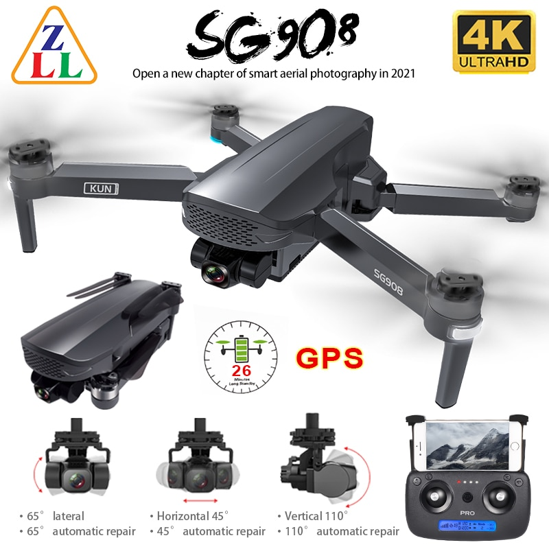 ZLL SG908 GPS Drone 3-Axis Gimbal 4K Camera 5G Wifi FPV Profesional 1.2KM 50X Brushless RC Helicopter Quadcopter SG906 PRO 2