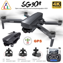 ZLL SG908 GPS Drone 3-Axis Gimbal 4K Camera 5G Wifi FPV Profesional 1.2KM 50X Brushless RC Helicopte