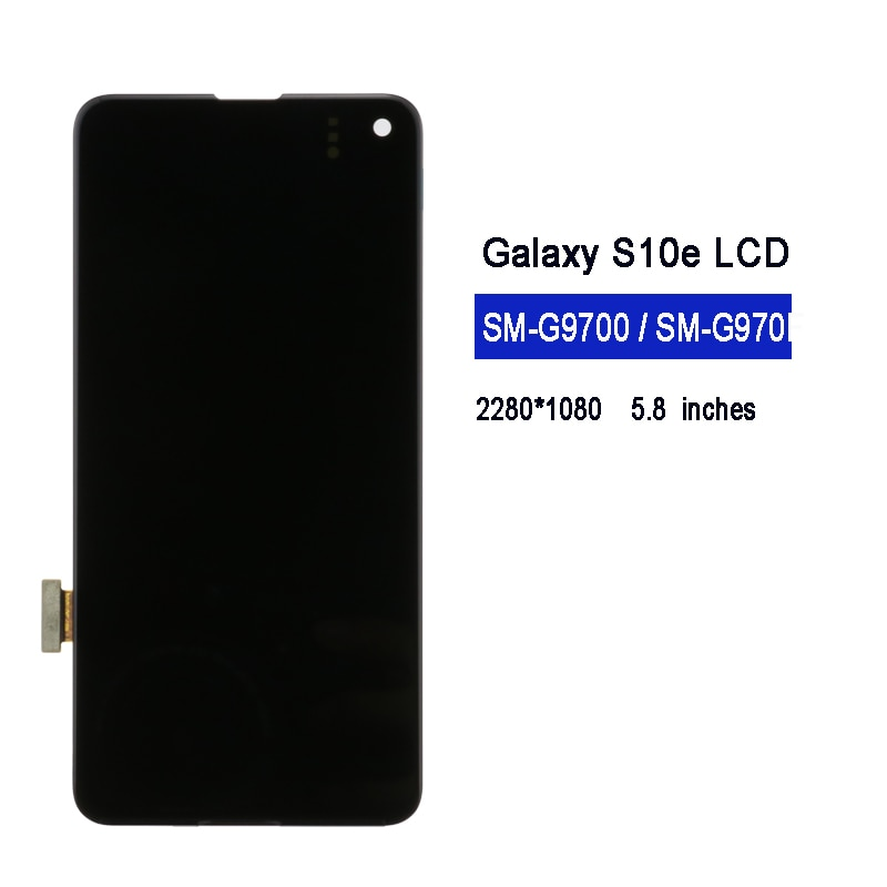"""5.8"""" Original AMOLED For SAMSUNG Galaxy S10E  SM-G9700 G970F/DS G970U G970W Display Touch Screen Digitizer Assembly Replacement enlarge"""