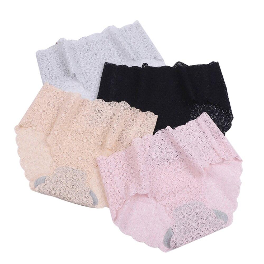 Senhoras período de renda sem costura calcinha mulher roupa interior de algodão majtki damskie wysokie cuecas feminina braguitas sexy mujer