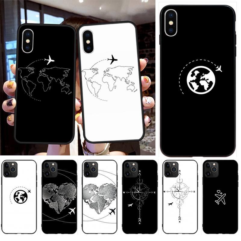 Diseños de mapa de PENGHUWAN, carcasa de teléfono con impresión DIY para iPhone 11 pro XS MAX 8 7 6 6S Plus X 5S SE 2020 XR
