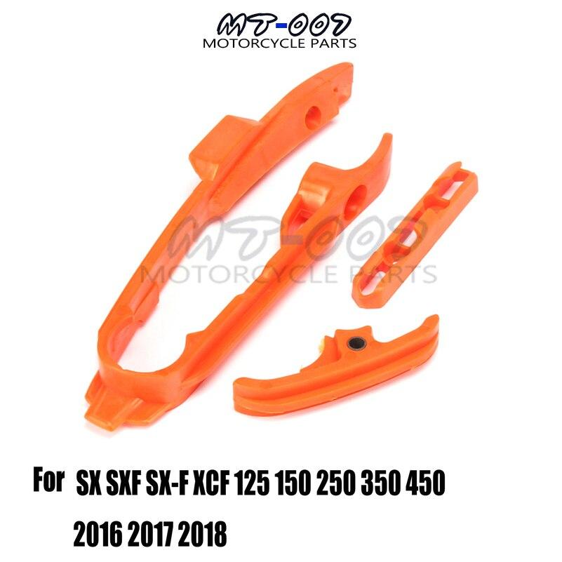 Adhesivo protector de horquilla de plástico para guía de cadena deslizante todoterreno para SX SXF XCF XC XCF 125 150 250 350 450 2016 2017 2018
