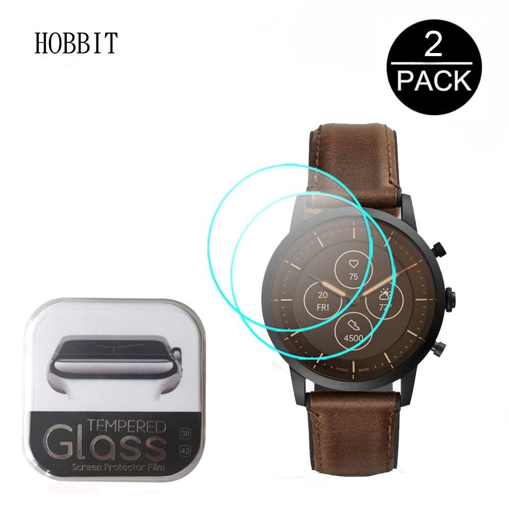 2Pcs Glass For Fossil Hybrid Smartwatch HR Collider/Monroe/Everett/Neutra/Charter/FB-01/Scarlette/La