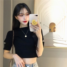 2021 Trendy Summer Plus Size Women's Clothing Girl Fat Sister Slimming Top T-shirt With Short Sleeve
