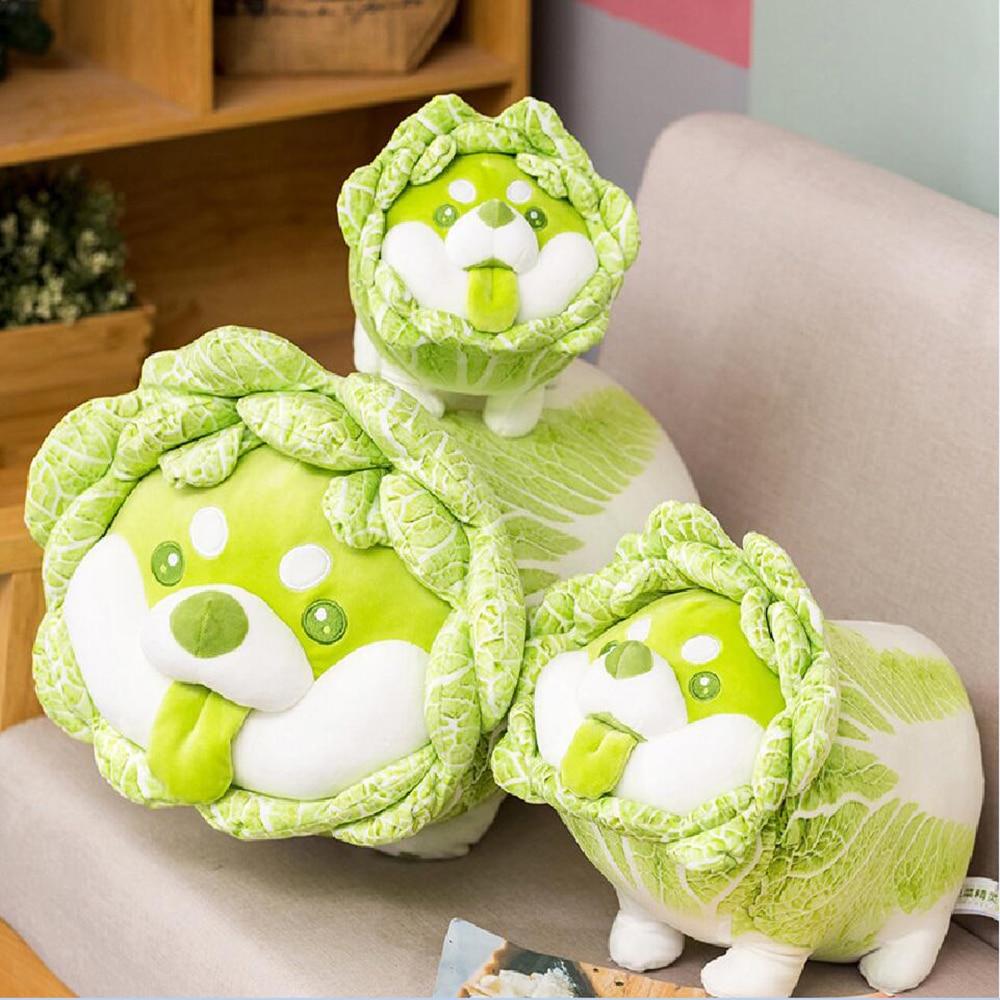 nice 1pc 35cm plush cat toys stuffed animal 1pc 25/30/35cm Cute Vegetable Dog Plush Toys Creative Chinese Cabbage Shiba Inu Pillow Stuffed Animal Sofa Cushion Baby Gifts