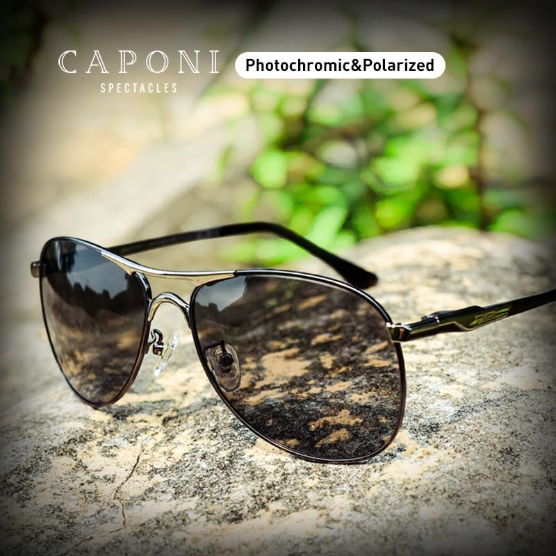CAPONI القيادة اللونية نظارات عالية الجودة الاستقطاب الكلاسيكية ماركة نظارات شمسية للرجال oculos دي سول masculino CP8722