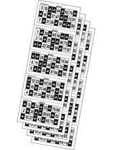 Ensemble de 540 cartes de bingo prédécoupées pour le bingo de bienfaisance. Nous devons également marquer