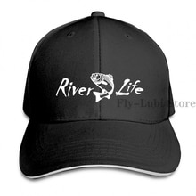River Life Trout Fish Fishing 2 Baseball cap men women Trucker Hats fashion adjustable cap