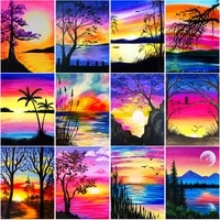 full square round kits diamond painting cross stitch set diy needlework embroidery landscape diamont embroidery wall paintings